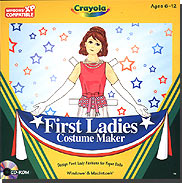 Ladies Dresses - Crayola First Ladies Costume Maker
