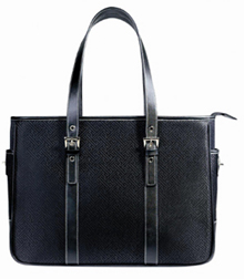 Designer Briefcases - Soleil Laurl Designer Laptop Bag For Women - Black